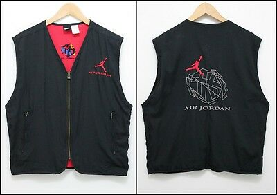 Vintage NIKE AIR JORDAN Vest Retro Top Tracksuit Size SMALL
