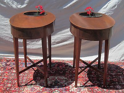 Federal Styled Mahogany Planter Antique Tables - End Tables - Nightstands