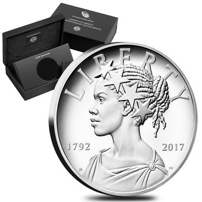 PRESALE - 2017 P 1 oz American Liberty High Relief Proof Silver Medal (w/Box and