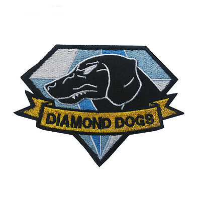 Metal Gear Solid Diamond Dogs Patches ARMY MORALE embroidery HOOK PATCH SH+ 929