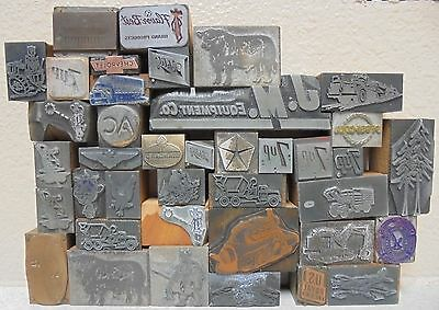 Lot of 40 Letterpress Print Blocks Advertising, logos, decorative 7up