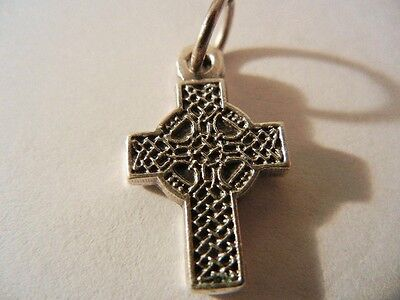 """Celtic Cross mini 5/8"""" tall oval medal New! Made in Italy"""