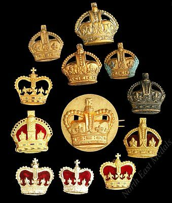 Assortment of Rank Crown Badges