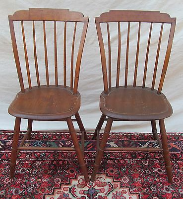 Pair Of 18Th Century New England Antique Windsor Birdcage Chairs