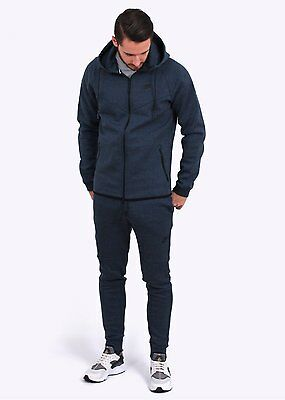 Great Condition Mens Nike Tech Navy Tracksuit Size Xl Full-Zip Hoody+Bottoms