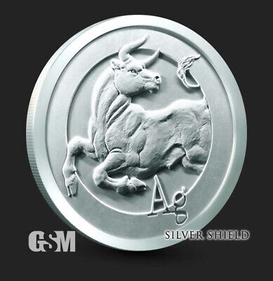 1 oz Starve the Beast BU MiniMintage Silver Round Silver Shield .999 - IN-STOCK!