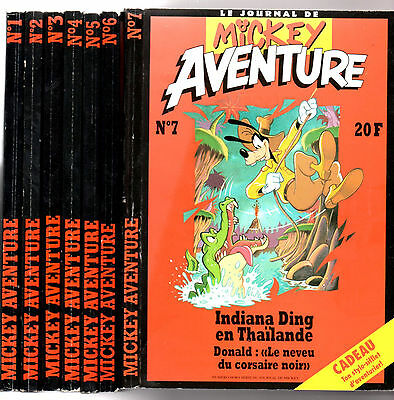 LOT BD 7 MICKEY AVENTURE n°1-2-3-4-5-6-7 ¤ EO 1993 ¤ JOURNAL MICKEY PARADE