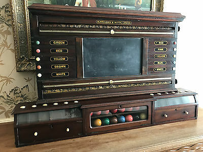 Burroughes and Watts Antique Snooker/Life Pool Score Board