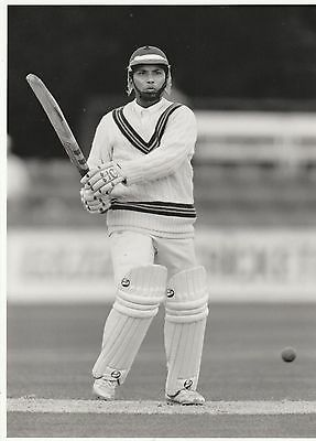 ASIF MUJTABA (Pakistan) black and white cricket press photograph...