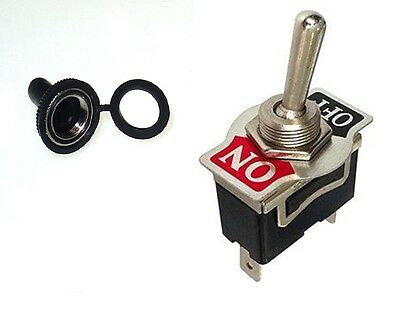 1 PC DPST SAFETY TOGGLE SWITCH 20AMP@125VAC SOFT RUBBER COVER  #66-1804//66-5001