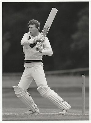 MIKE ATHERTON (Lancashire & England) black and white press photograph... Ashes