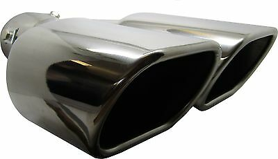 Twin Square Stainless Steel Exhaust Trim Tip Audi Q7 2006-2016