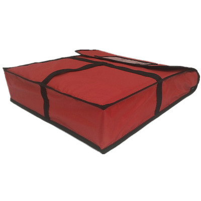 """Pizza Food Delivery Bag Red Thermal Insulated NYLON holds 2 18"""" Pizzas Pies"""