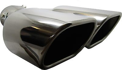 Twin Square Stainless Steel Exhaust Trim Tip Mitsubishi Outlander 2003-2016