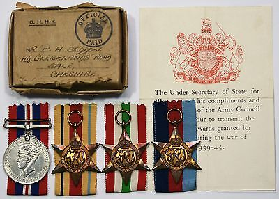 WW2 Medal Group Of 4 1939-45 Star, Africa Star, Italy Star And War Medal