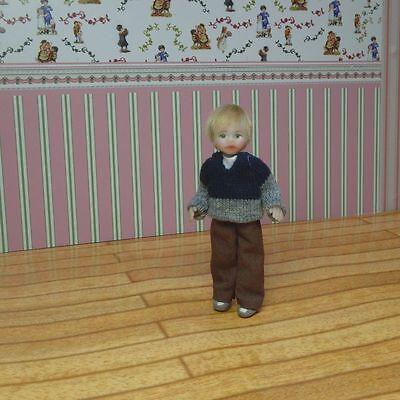 OOAK Miniature Hand made Sculpt Miniature Boy Dolls House 1/12 scale