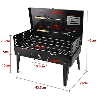 Portable Folding Barbeque Grill Charcoal  Home Darden Patio Picnic BBQ Camping