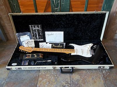 Fender Eric Johnson Stratocaster Electric Guitar  in Black with Case