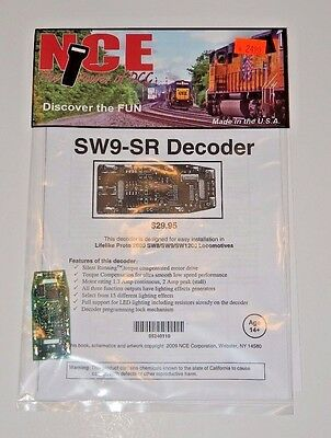 NCE #110 SW9-SR HO DCC Decoder for Proto-2000 SW8/SW9/SW1200 Diesels NEW