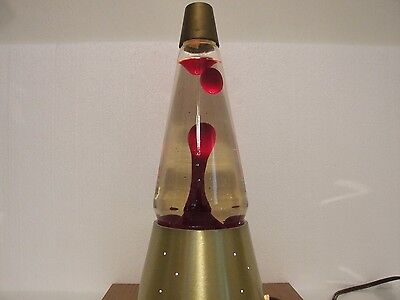 Vintage 1960's Lava Corp. Lava Lite Lamp Starlite base with red lava and box