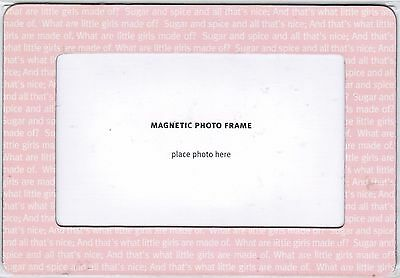 What are little girls made of? magnetic 5x3 picture photo frame