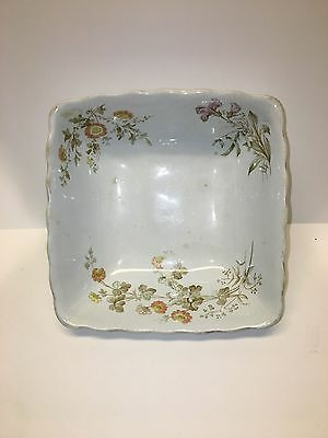 Very Rare Alfred Meakin Ironstone China Fruit Bowl in a Flower Pattern