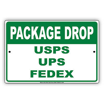 Delivery Instructions Drop Package Here Sign Metal Usps Fedex Amazon