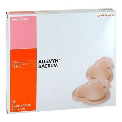 SMITH & NEPHEW 66000451 ALLEVYN SACRUM ADHESIVE HYDRO CELLULAR DRESSING bedsores