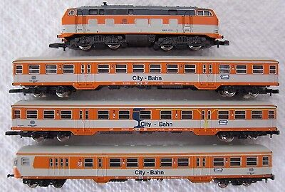 "Marklin Mini-Club Z Scale 8107 ""city Bahn"" Passenger Set-Not Running But Nice!"