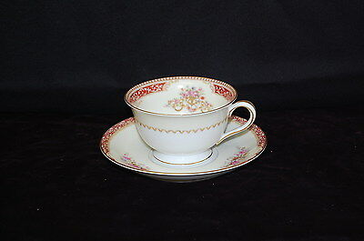 Noritake Occupied Japan Footed Cup and Saucer Discontinued circa 1949  C1007