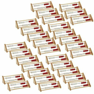 Kids Math Learning Wooden Abacus ETA hand2mind Rekenreks Class Set, (Pack of 30)