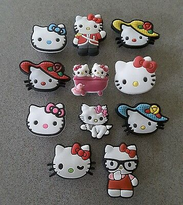 11 Hello Kitty theme *USA* shoe/bracelet jibbitz/jibitz charms pvc party favors