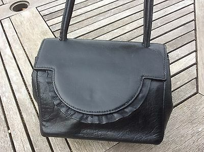 freedex vintage black leather handbag