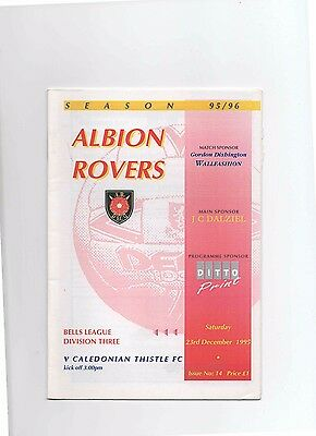95/96 Albion Rovers V Inverness Caley Thistle (Division 3)(December)