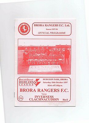 97/98 Brora Rangers V Inverness Clach (Highland League)