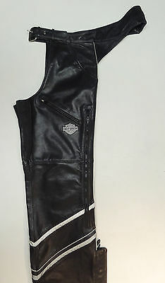 "Harley Davidson Leather Chaps Luminator 98012-10Vm  Mens Xl 36-41"" Belt Nice  29"