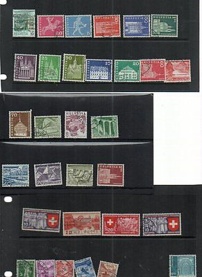 Collection Of Used Stamps From Helvetia Look At Scans 4