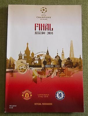 Chelsea V Man Utd  Champions League Final Moscow 2008 Programme