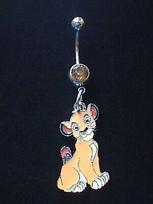 Disney Special Lion King Simba Charm Surgical Steel Belly Ring