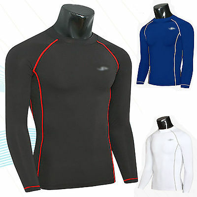 Mens Compression Long Sleeve Sports T-Shirts Running Fitness Slim Top Gym Wear