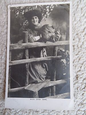 Vintage Theatrical Glamour Postcard Zena Dare Actress 1906