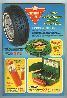 French CANADIAN TIRE 1980 Summer Store Catalog 260 Pages ~ Unused