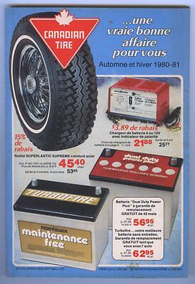 French CANADIAN TIRE 1980-81 Fall - Winter Store Catalog 244 Pages ~ Unused