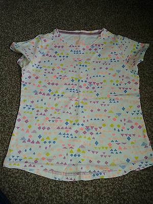 Girls Cotton Patterned T-shirt 7-8 years Great Condition