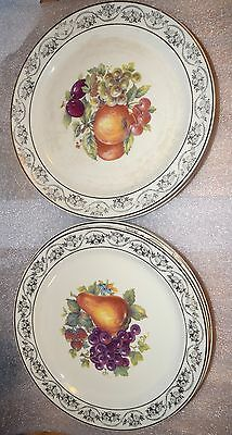 "EUC Lot Of 8 Vintage Taylor Smith & Taylor 22 K Gold Dinner 9"" Plates USA"