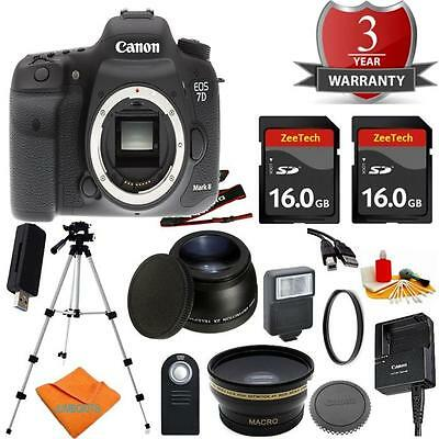 Canon 7D MARK II Body Bundle + 16GB + Tele + Flash + UV