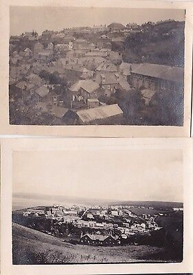 2 VINTAGE PHOTO BUILDINGS HOUSES PORT ISAAC CORNWALL 1930s MY128