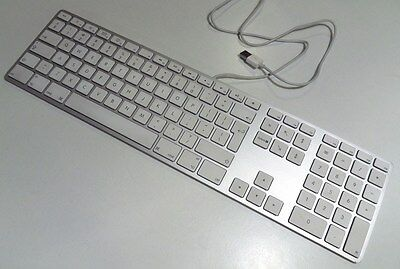 Genuine Apple Wired Aluminium Extended Keyboard A1243 UK QWERTY USB iMac