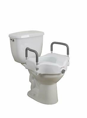2-in-1 Locking Raised Toilet Seat with Removable Arms by Drive item# 12008KDR