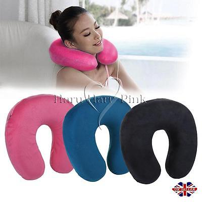 Supersoft Travel Neck Cushion Microbead Pillow Camping Holiday Sleep Car Support
